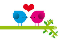 Love birds von Krista de Groot