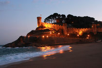 Castle in Tossa de Mar, Spain by Melania Mazur
