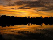 Sunset * Lake by Zoila Stincer