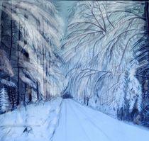 Wald im Schnee by Heidi Schmitt-Lermann
