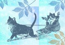 Vintage Cat Sled von Patricia N