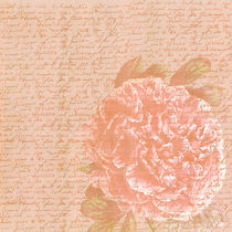 Vintage Peach Botanical Peony von Patricia N