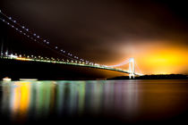 Verrazano bridge on an overcast summer night von jean-baptiste aguilhon-levesque