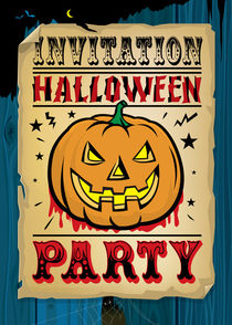 Invitation Halloween Party von Maarten Rijnen