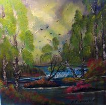 Birkenwald by Eva Borowski