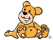 Cartoon Teddy Bär / Cartoon Teddy bear von Elke Schmalfeld