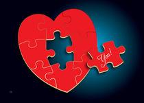 Puzzle Heart von Maarten Rijnen
