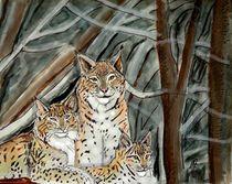 Luchse im Wald von Heidi Schmitt-Lermann