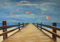 Der Steg am Meer von Elke Sommer