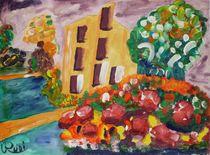 Haus mit Garten von Rudolf Urabl