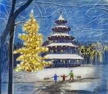 Der Chinesische Turm in München by Heidi Schmitt-Lermann