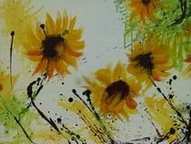 Sonnenblumen in Acryl by Ismeta  Gruenwald