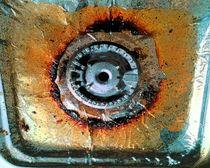 Burner on gas stove by cdigitalv