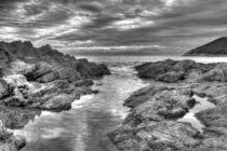 Limeslade Bay Monochrome von Dan Davidson