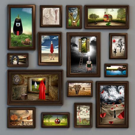 Bilderwand Mixed Media Als Poster Und Kunstdruck Von Susann
