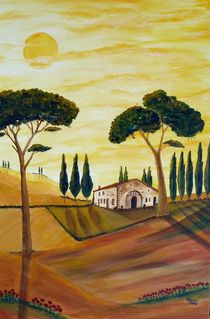 Toscana in GELB by Christine Huwer