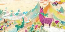 Mountain Llama  von Migy Ornia-BLanco