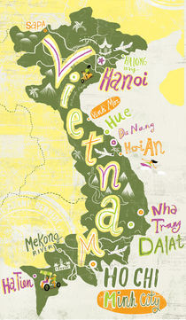 Vietnam Map by Migy Ornia-BLanco