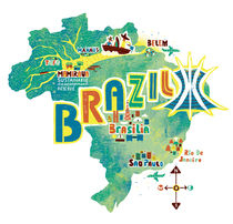 Brazil-map-illustration