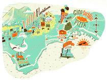 'Naples Map' von Migy Ornia-BLanco
