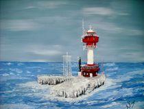 Winter am Kieler Leuchtturm von Bärbel Knees