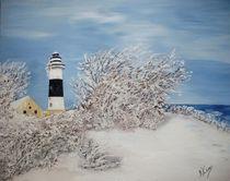 Winter am Leuchtturm Bülk by Bärbel Knees