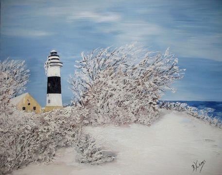 winter am leuchtturm b lk malerei als poster und kunstdruck von b rbel knees bestellen. Black Bedroom Furniture Sets. Home Design Ideas