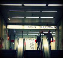 Father and son exiting the subway, Munich von Alice Di Vincenzo