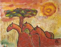 Pferde von haselnusstafel