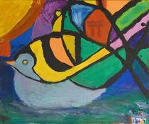 Bunter Vogel von haselnusstafel
