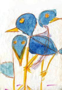 drei Vögel von haselnusstafel