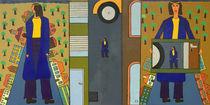 Triptychon von haselnusstafel