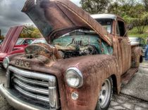 Classic old rusted truck by David Shayani