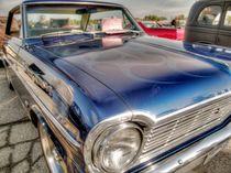 Classic Blue Car by David Shayani
