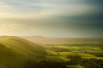 Devils Dyke and the falling sun von Mark Upfield