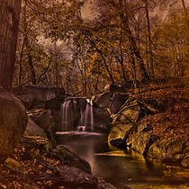 Autumn At The Waterfall In the Ravine von Chris Lord