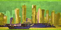 Skyline Doha Bahrain 2 von Marie Luise Strohmenger