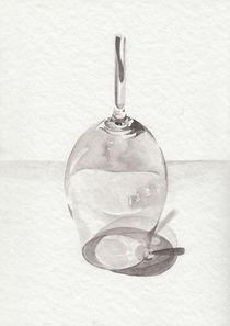 Stillleben mit gebrochenes Glas von Rosel Marci