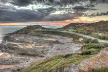 Bracelet Bay Sunset Swansea HDR by Dan Davidson