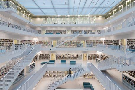 Stadtbibliothek stuttgart moderne architektur fotografie als poster und kunstdruck von - Moderne architektur hauser ...