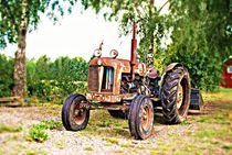 verrosteter Traktor