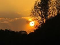 sonnenuntergang im oktober von elfriede zitas