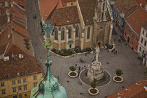 Main square in Sopron / Hungary by Gabor Pocza