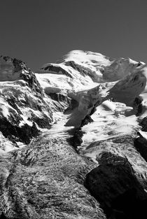 Glacier des Bossons & Mont Blanc by Russell Bevan Photography