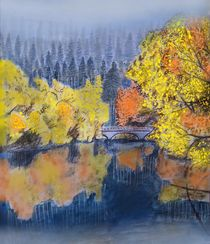 Herbstliche Isarauen von Heidi Schmitt-Lermann