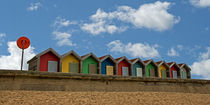 Beach Huts II by David Pringle