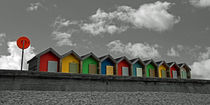 Beach Huts III by David Pringle