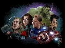 Avengers in a row von Alex Gallego