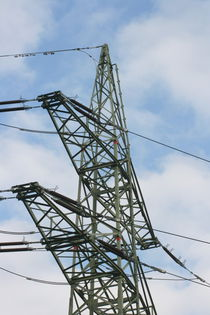 Strommast  Electricity pylon by hadot