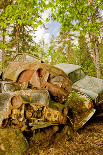 Dead cars by Lars Hallstrom